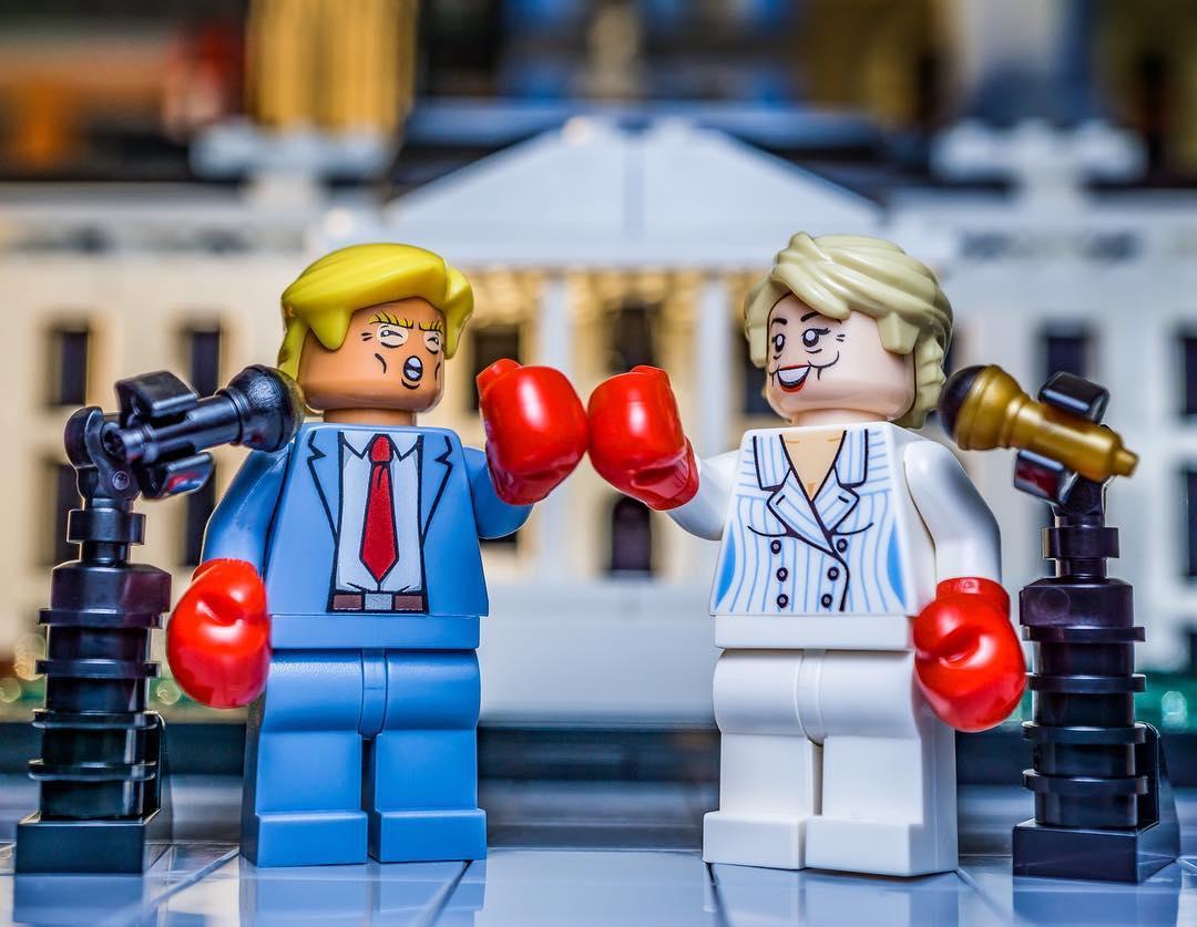 PRESIDENT NOMINEE HILLARY CLINTON **NEW** LEGO Custom Printed Minifigure